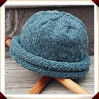 Rolled Brim Hat Double Roll Storm Hat Knitted Hats Hat Knitting Patterns Knitting
