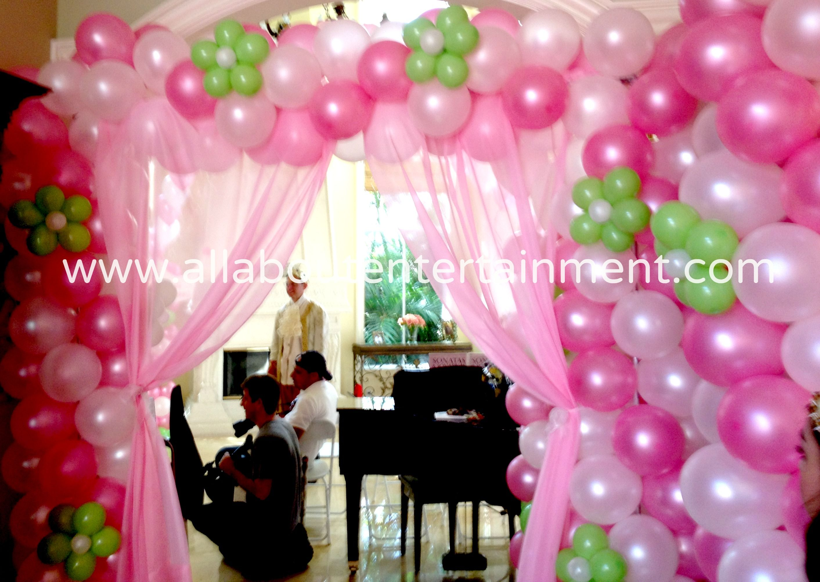 Balloon Decorations Archway Balloon Draping Enterence