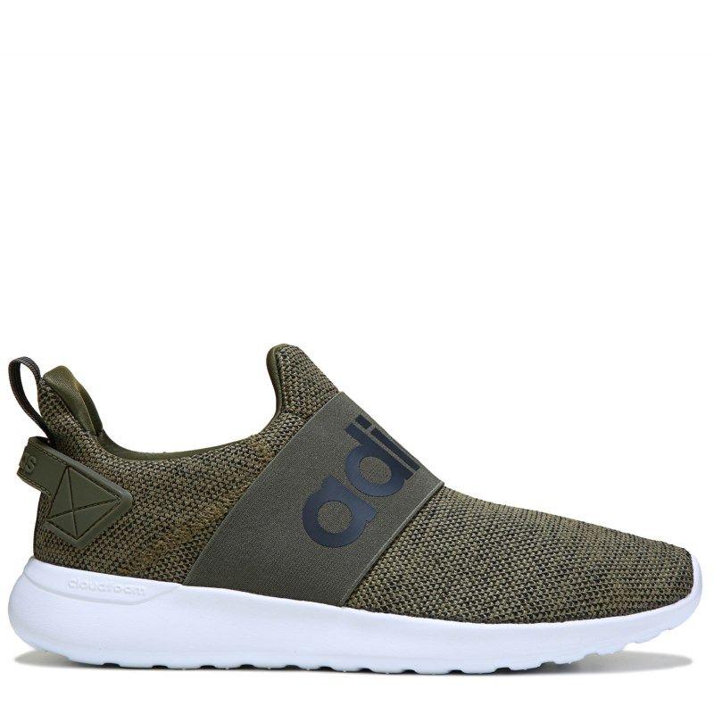 dd67c84e3b8702 Adidas Men s Cloudfoam Adapt Slip On Sneakers (Olive White)