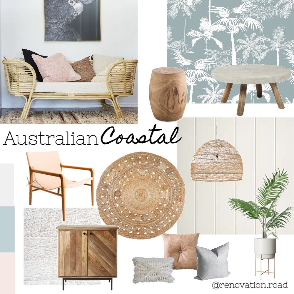 Australian Coastal Mood Board in 2020 Home decor