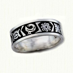 personalized african wedding bands reverse etch - African Wedding Rings