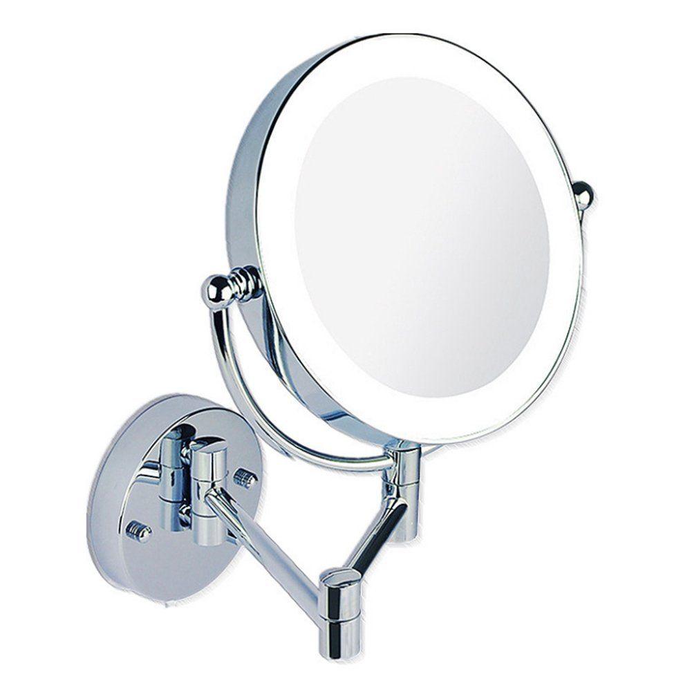 Lifenewbaby Miroir à Fixation Murale Lumineux à Led Grossissant X3
