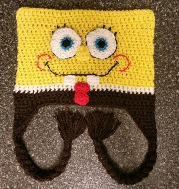 Squarepants Spongebob Inspired Crochet Hat Spongyt R