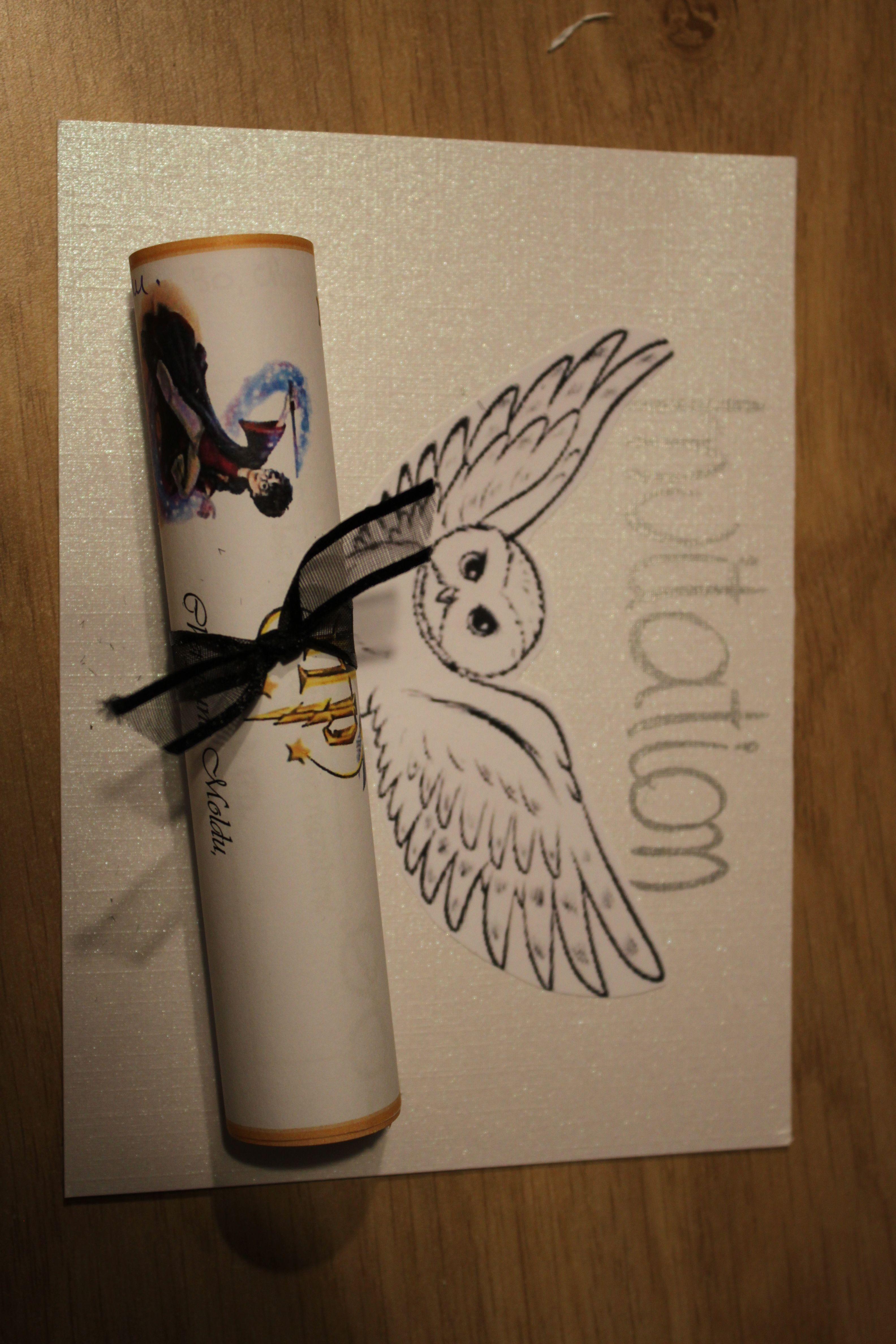 invitation anniversaire harry potter hibou postal. Black Bedroom Furniture Sets. Home Design Ideas