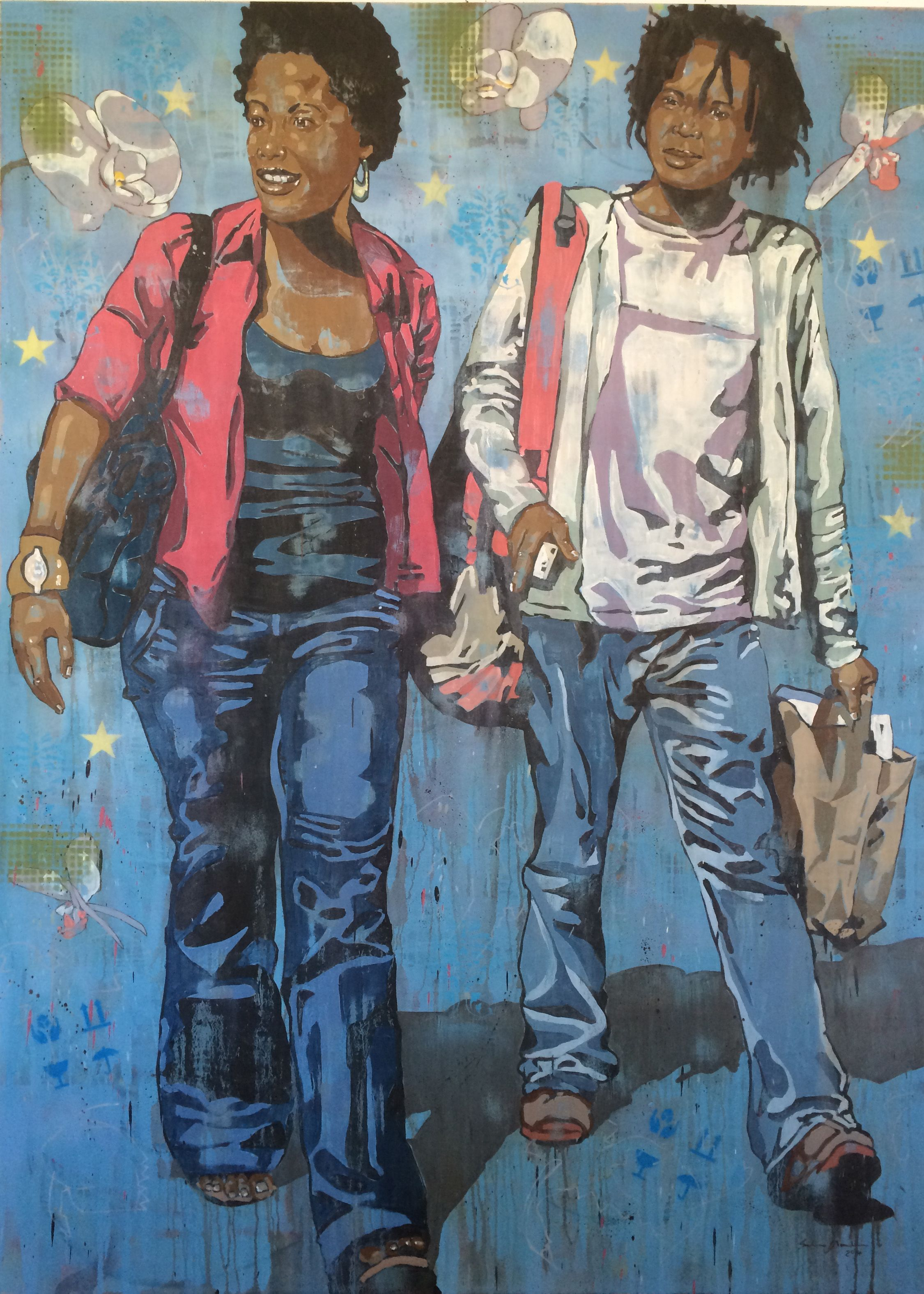 We On The Move Oil On Canvas 220 X 160 Cm Artwork 2014 Art