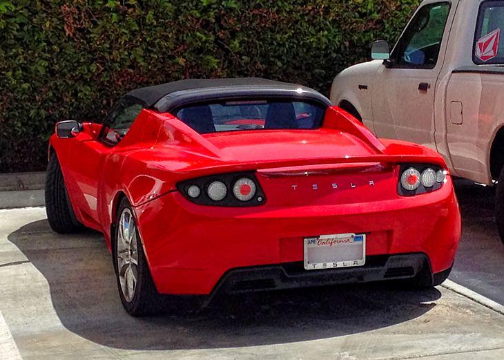 Tesla Roadster ragtop.