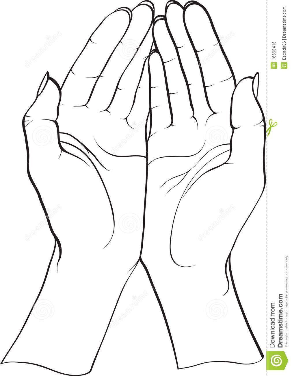 Open Praying Hands Clipart Clipart Panda Free Clipart Images Hand Clipart Hand Silhouette Hand Art Drawing