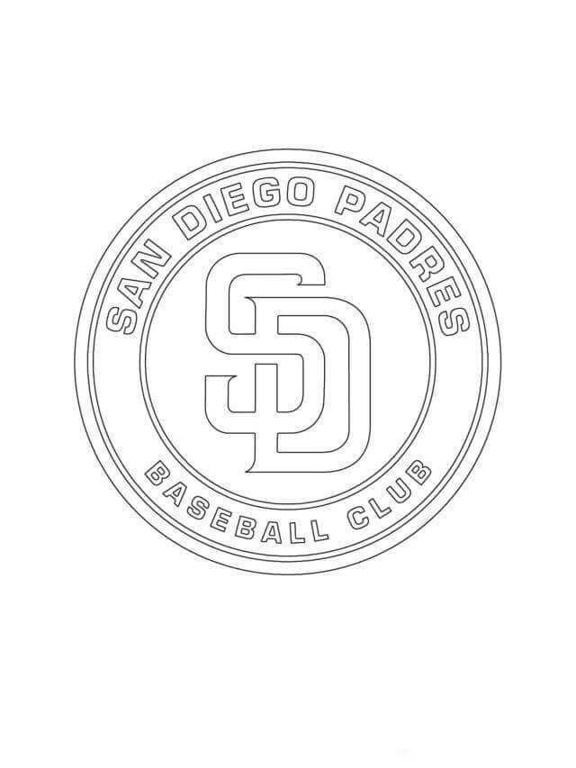 Major League Baseball Mlb Coloring Pages In 2020 Sports Coloring Pages Baseball Coloring Pages San Diego Padres