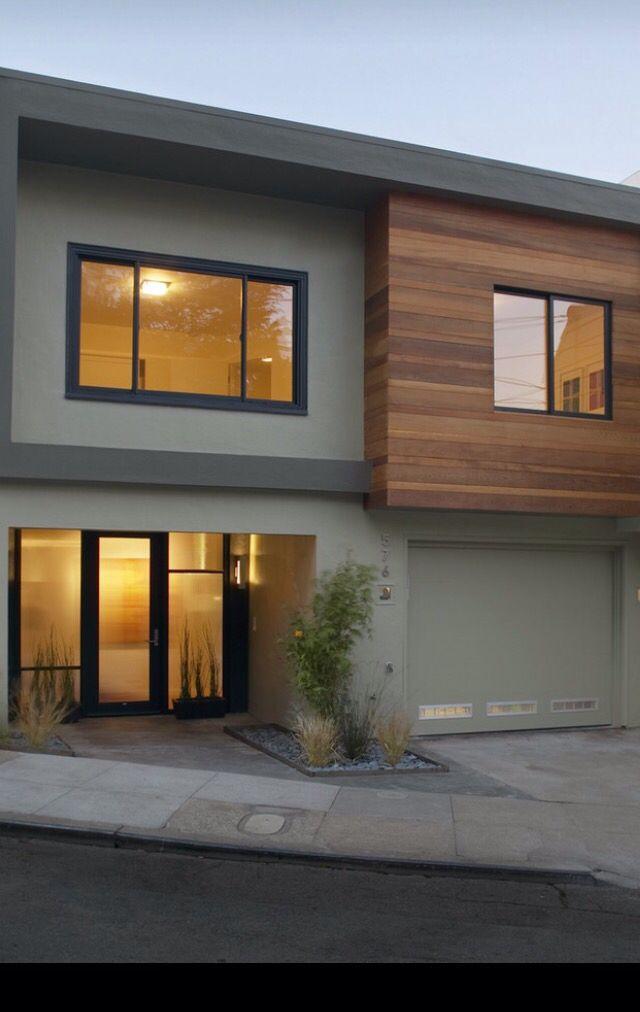 Grauer Putz Holz4 | J=建筑 | Modern house facades、Exterior ...