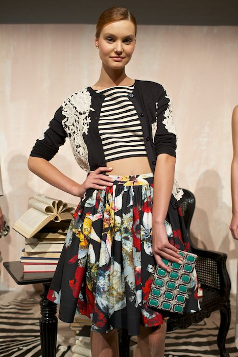 mixed patterns.  Alice and Olivia spring 2014.