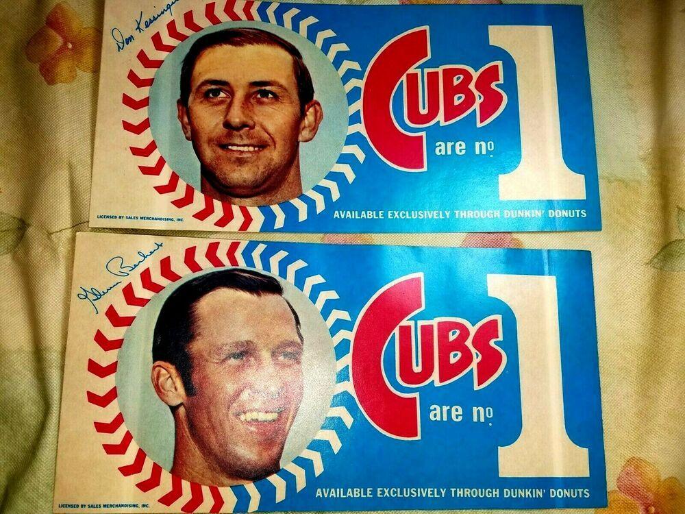 1970 DON KESSINGER & GLENN BECKERT Dunkin' Donuts Bumper