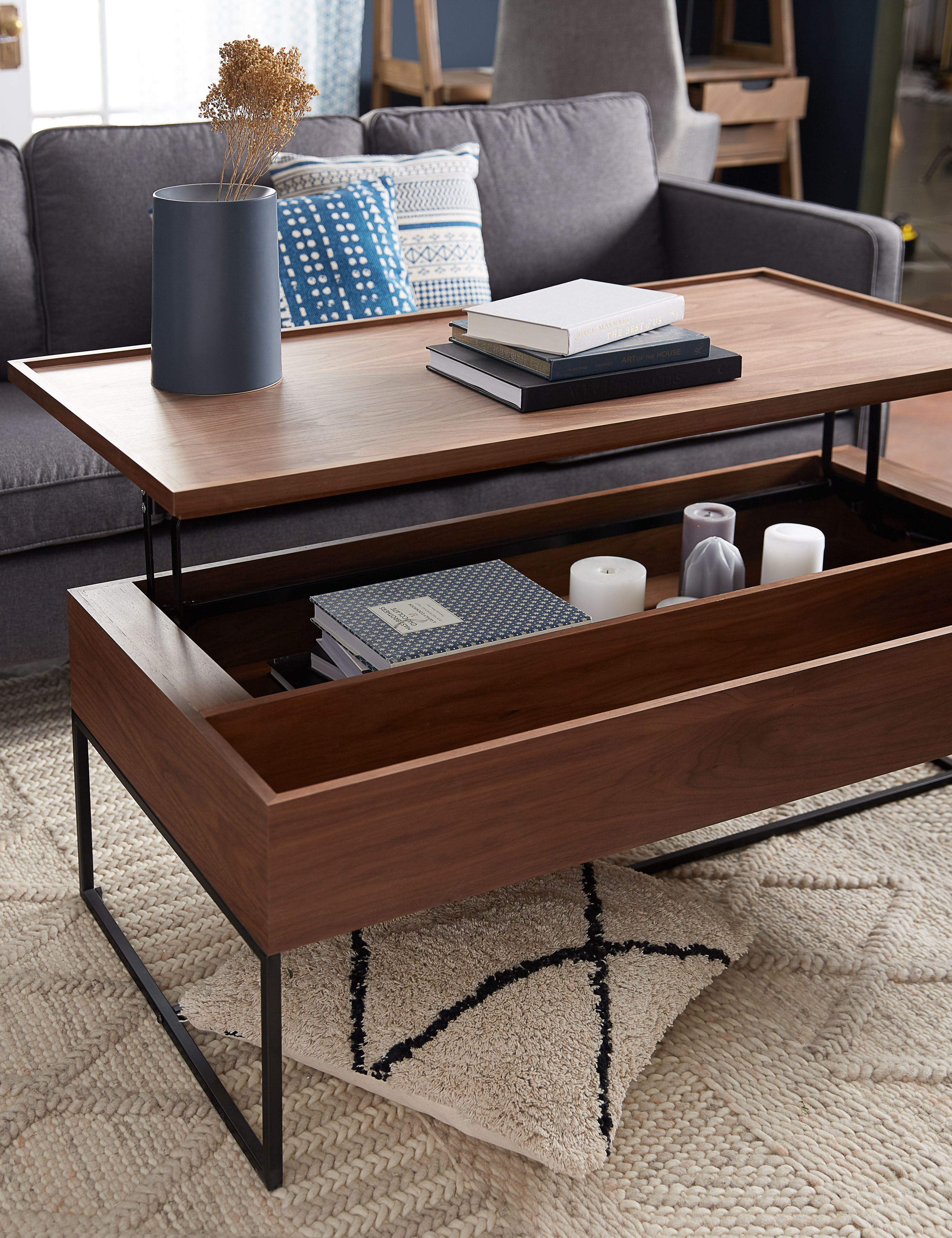 Stupendous Matteo Walnut Coffee Table With Storage 120Cm In 2019 Short Links Chair Design For Home Short Linksinfo