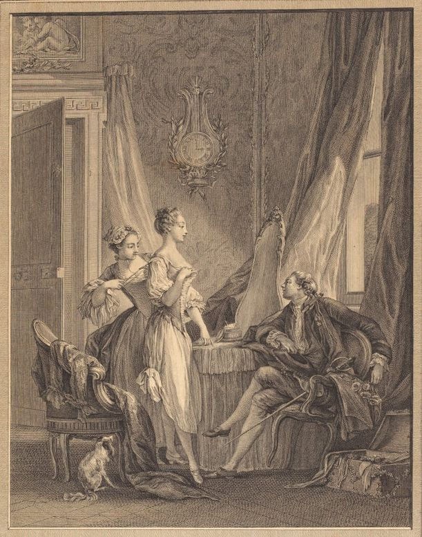 La toiletteu0027, 1771, Nicolas Ponce after Baudouin, engraving
