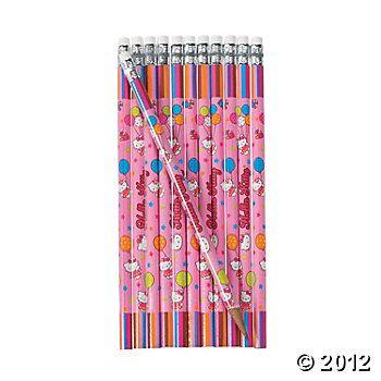 """Hello Kitty®"" Balloon Dreams Pencils - Oriental Trading"