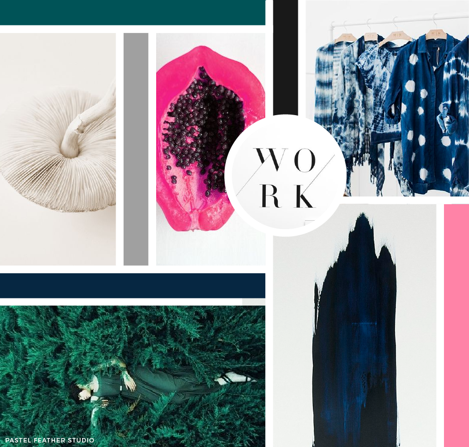 MOODBOARD - indigo pink | P▲STEL FEATHER STUDIO