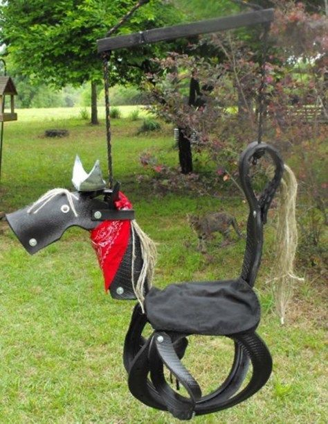 How To Make A Horse Tire Swing | 21 Super Amazing Ways To Reuse Old Tires