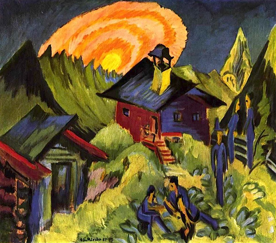 Moon Rising at the Staffelalp, by  Ernst Ludwig Kirchner