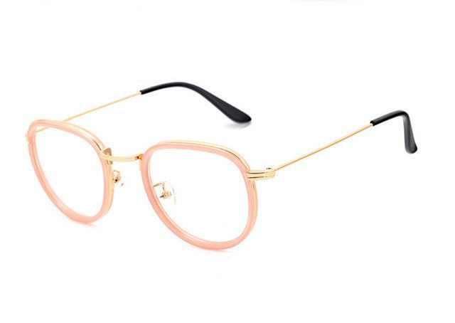 c580dbd7213 Round Transparent Nerd Glasses Vintage Clear Glasses Myopia Men Optical  Lens Retro Gold Women Eyeglasses Frames Eyewear