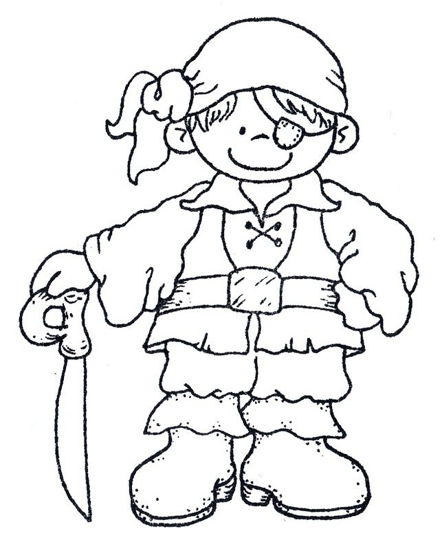 Top 25 Pirates Coloring Pages For Toddlers | iPad, Digi stamps and ...