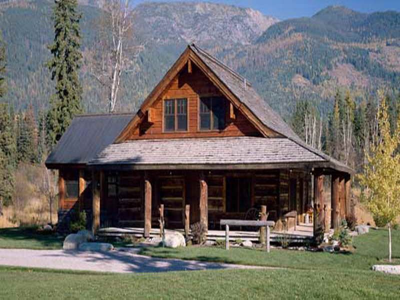 House Design, Georgia Small Log Cabin Kits Mountain View 06