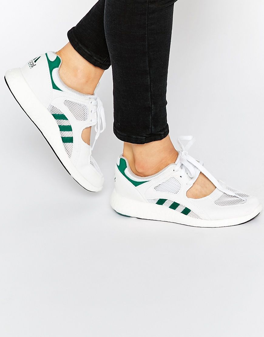 Shop adidas Originals White Equipment Racing 91 Sneakers at ASOS.