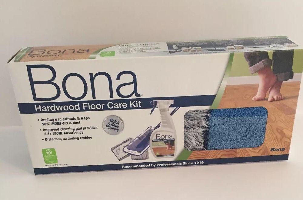 Bona Hardwood Floor Care Kit Brand New In Box This Kit Includes The Lightweight Mop Microfiber Cleaning Pad M Hardwood Floor Care Floor Care Clean Microfiber