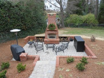 Red Brick Outdoor Fireplace Design Most Heat Patio With Brick