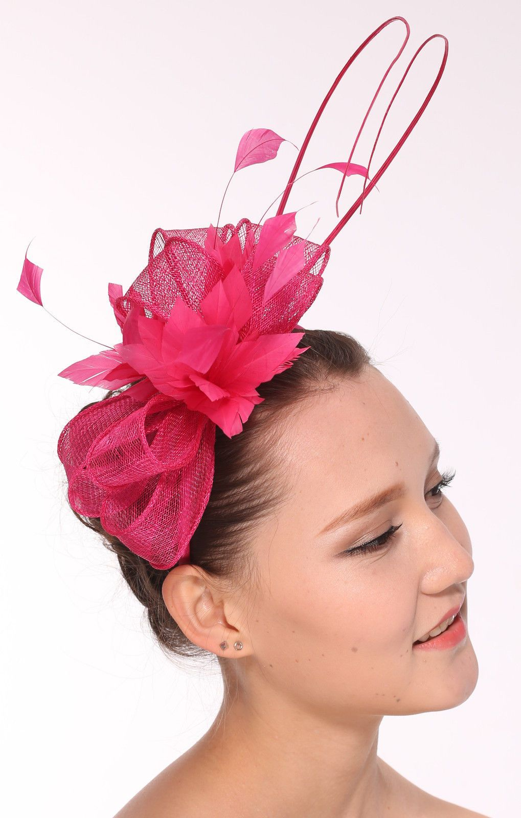 4c3cc80b6f3 Kentucky Derby Feather Floral Sinamay Headband Fascinator Cocktail ...