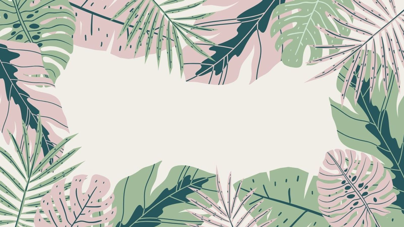 Pastel Green And Pink Jungle On Trend Zoom Background Background New Backgrounds Tropical Background
