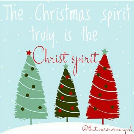 The Christmas spirit truly is the Christ spirit