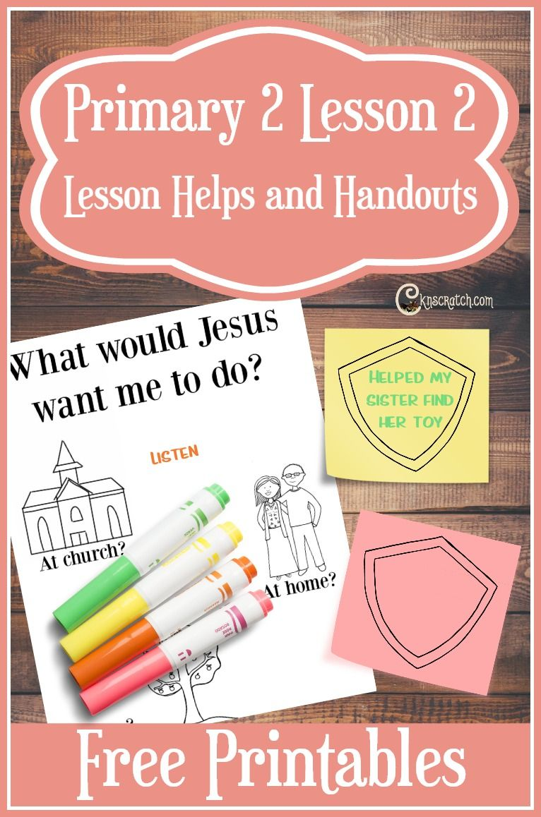 Lesson 2: I Can Choose the Right | Lds primary, Primary lessons and ...