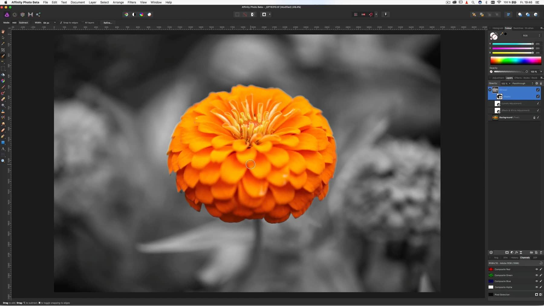 Affinity Photo Tutorial How To Create A Color Key Effect On