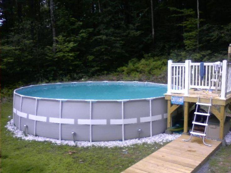 Intex Pool Deck Idea Pools Pools Pools Pinterest
