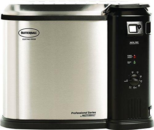 Masterbuilt Mb23010618 Fryer Xl Stainless Steel Electric Fryer