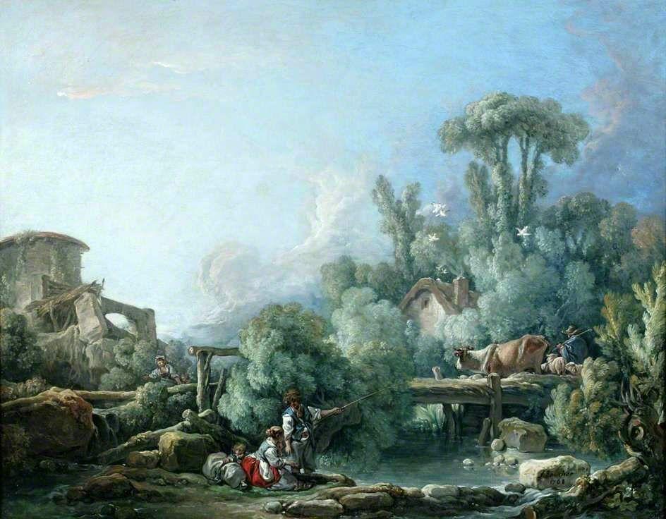 Get Best Manchester United Wallpapers Landscape The Gallant Fisherman_Francois Boucher_1768