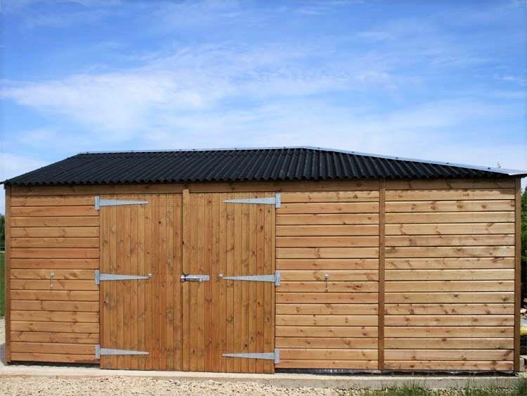 Hay barn. Roof is black Onduline with galvanised ridge