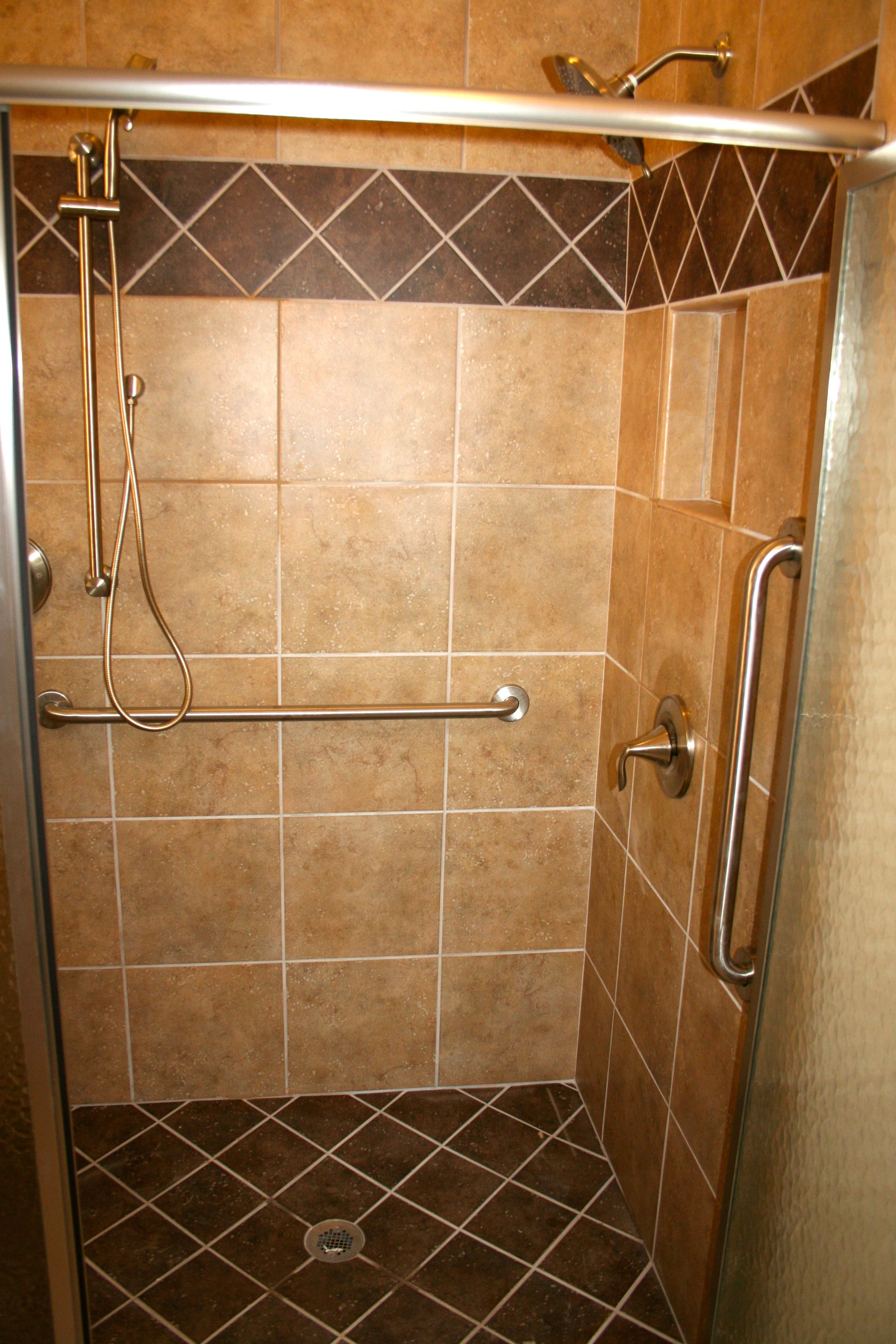 Wall tile samara altai gold with fawn grout standard accent wall tile samara altai gold with fawn grout standard accent diagonal band samara azas brown standard shower floor samara azas brown with earth dailygadgetfo Choice Image