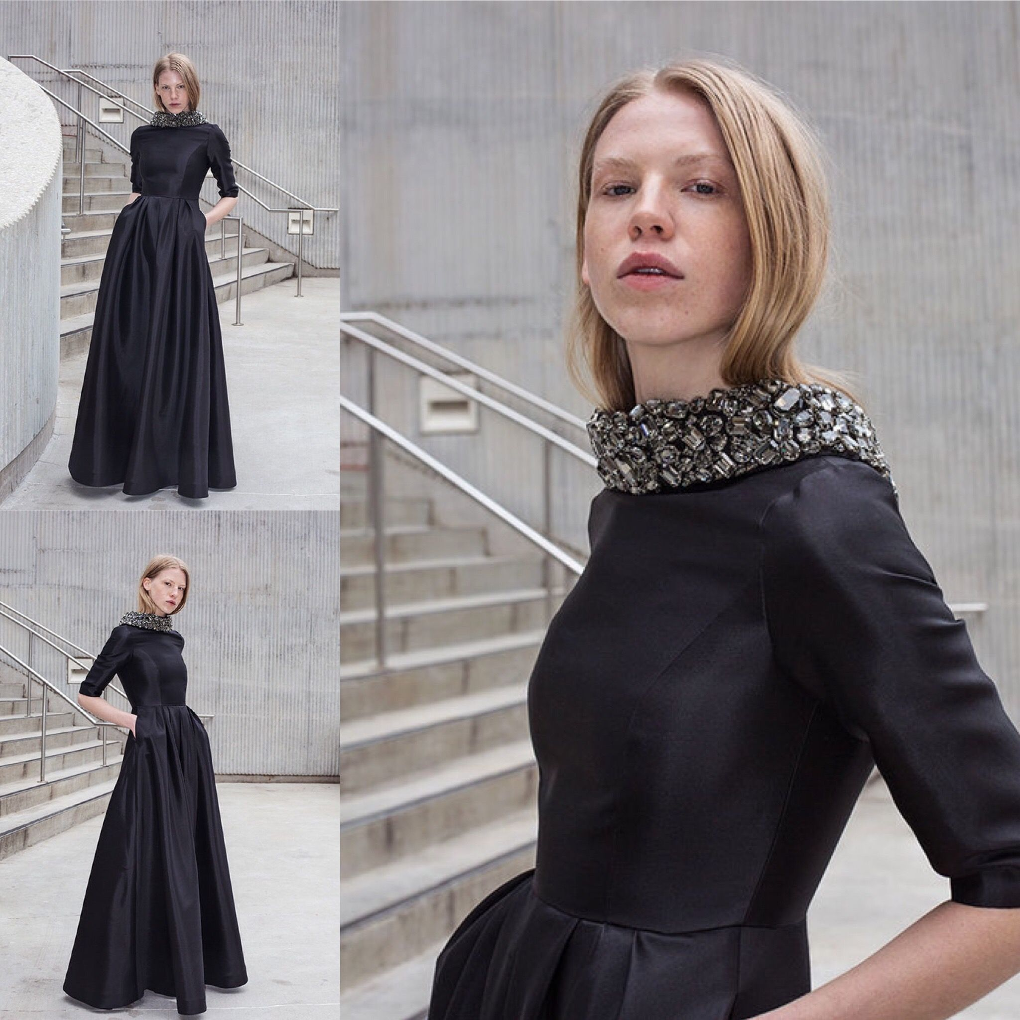 The grace gown from our fallholiday collection in black silkwool