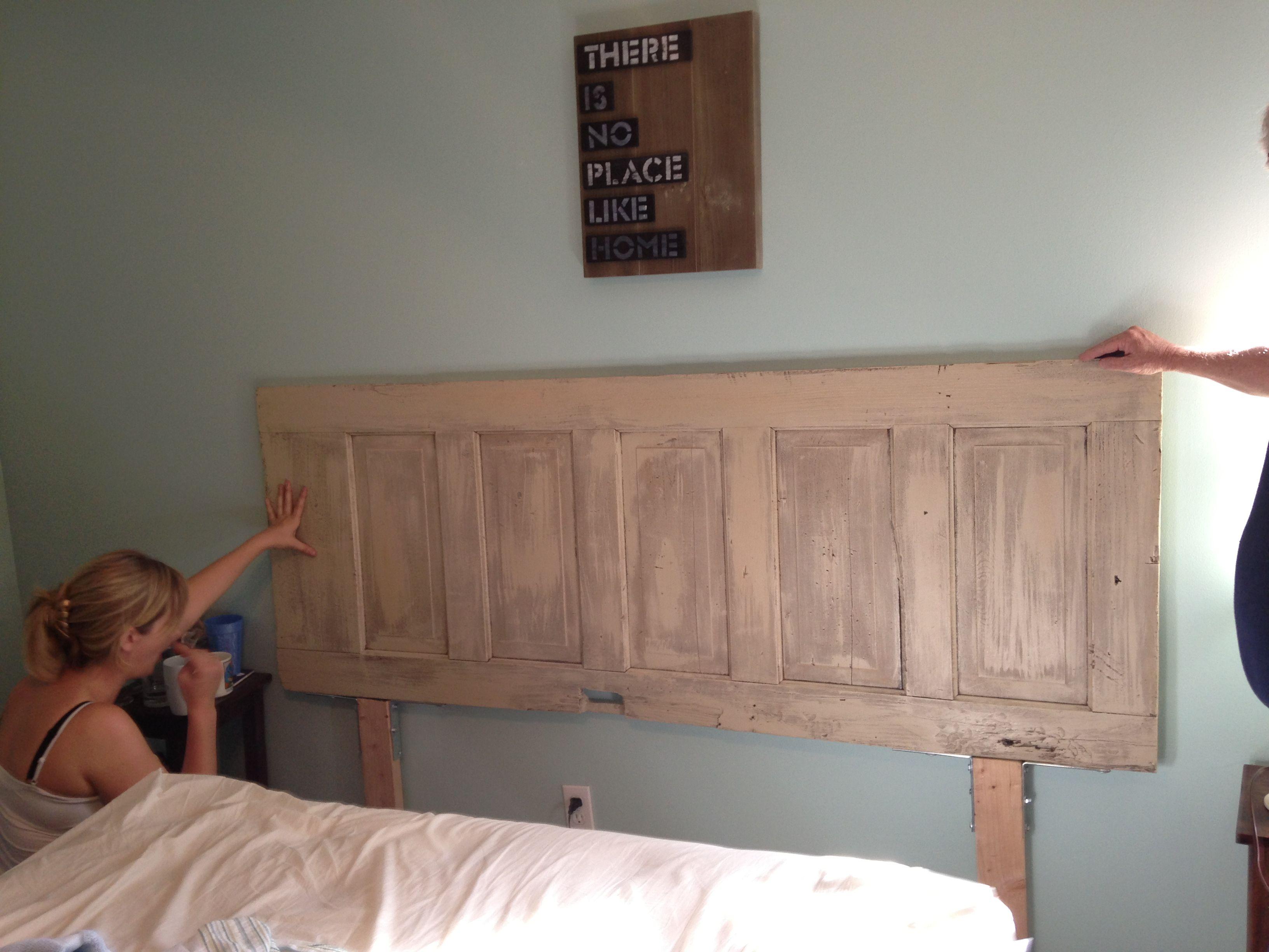 Diy Headboard I Made From Old Barn Door