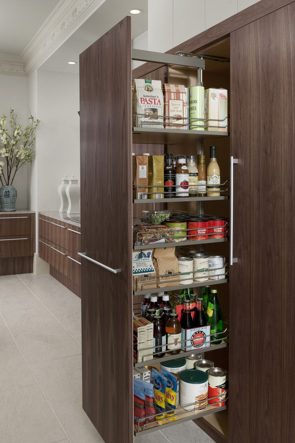 Tall pull-out pantry, as shown in the Modern History kitchen by ...