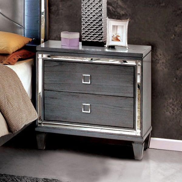 Best Furniture Of America Curtis Contemporary Glam 2 Drawer 400 x 300