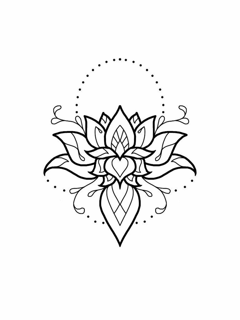 lotus mandala tattoo design � � pinteres�