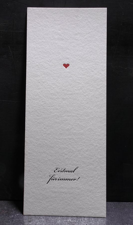 Minimalistische Hochzeitskarte Typography Letterpress