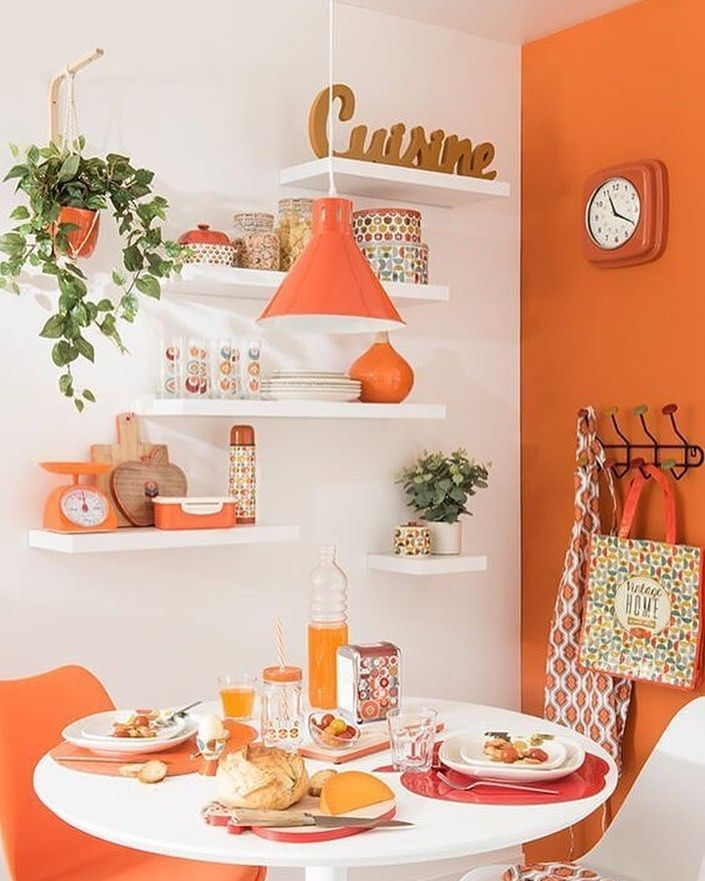 Naranja. Color brillante, vibrante. Hoy le toc a este hermoso color, ideas de decoracin, todas para...