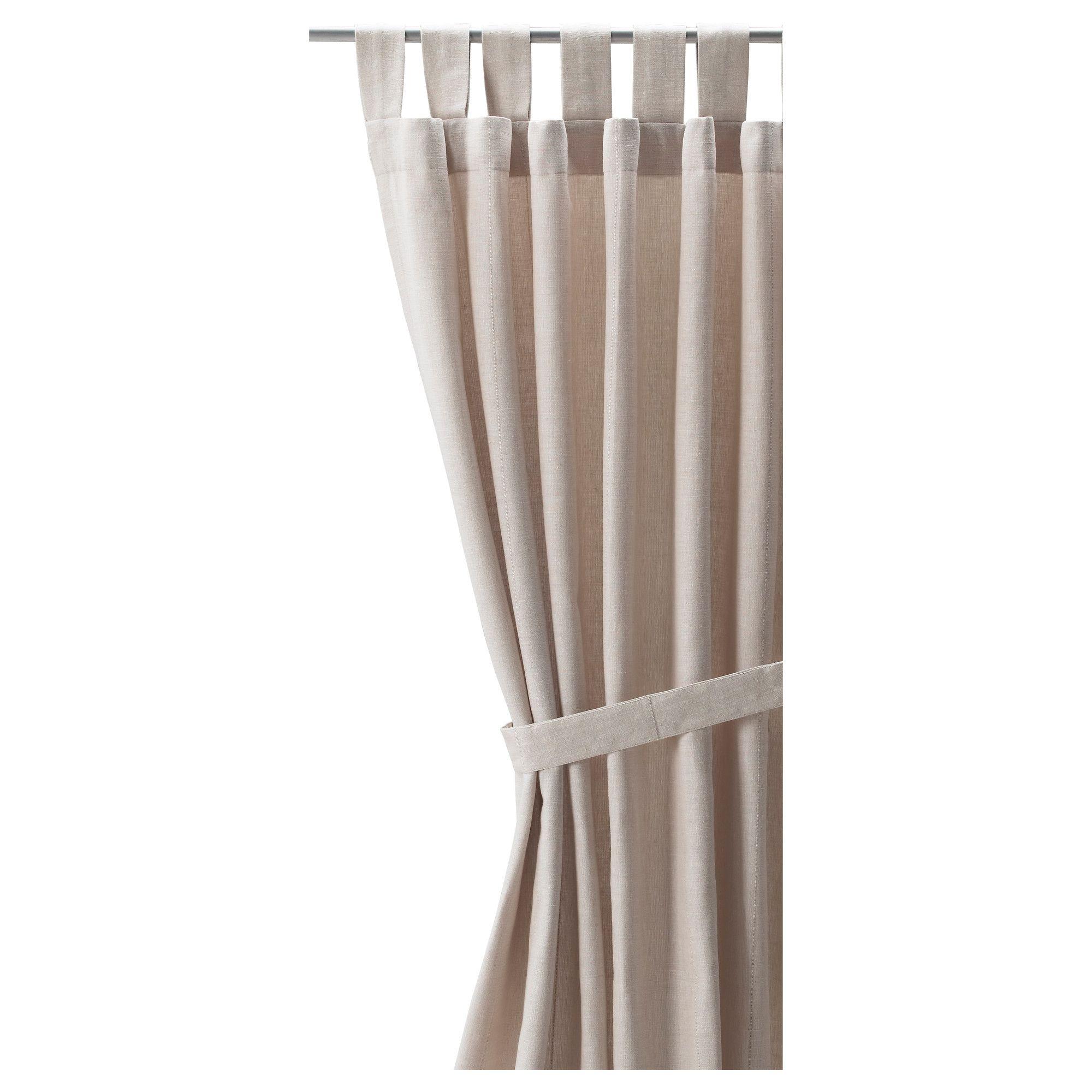 3 window bedroom curtains  lenda curtains with tiebacks  pair light beige  light beige