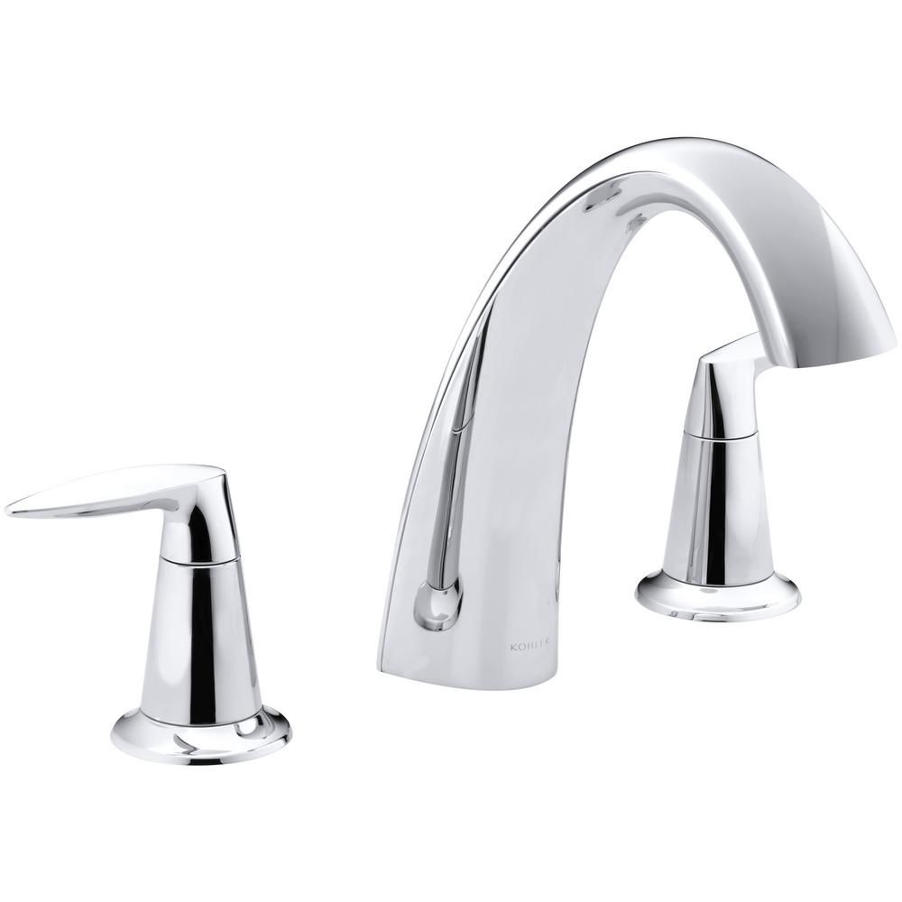 Kohler Alteo 8 In 2 Handle High Arc Bathroom Faucet Trim Kit In Polished Chrome Valve Not Included Bathroom Faucets Faucet Tub Faucet