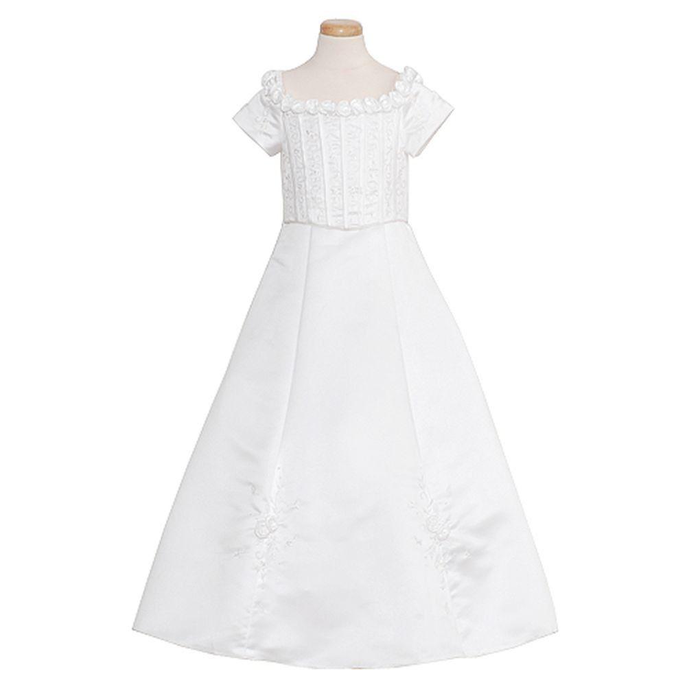 Rain Kids White Floral Off Shoulder Special Occasion Dress Girls 2t 18 Girls Dresses Special Occasion Dresses Dresses [ 1001 x 1001 Pixel ]
