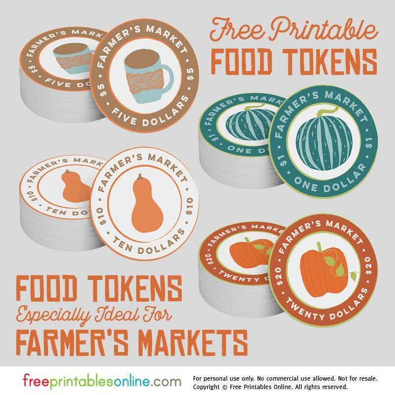 image relating to Printable Tokens named Printable Farmers Industry Foods Tokens Increase Farmers