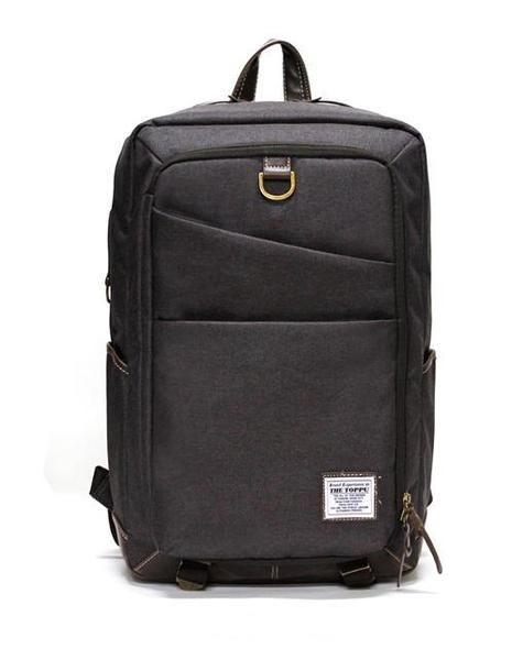 45a6616b3f67 Gray square laptop backpack