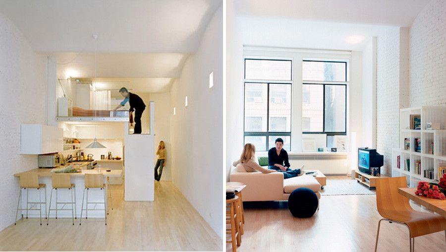 Mini appartamenti 5 soluzioni sorprendenti dai 40 ai 50 mq diy small space mini loft house for Arredare casa di 40 mq
